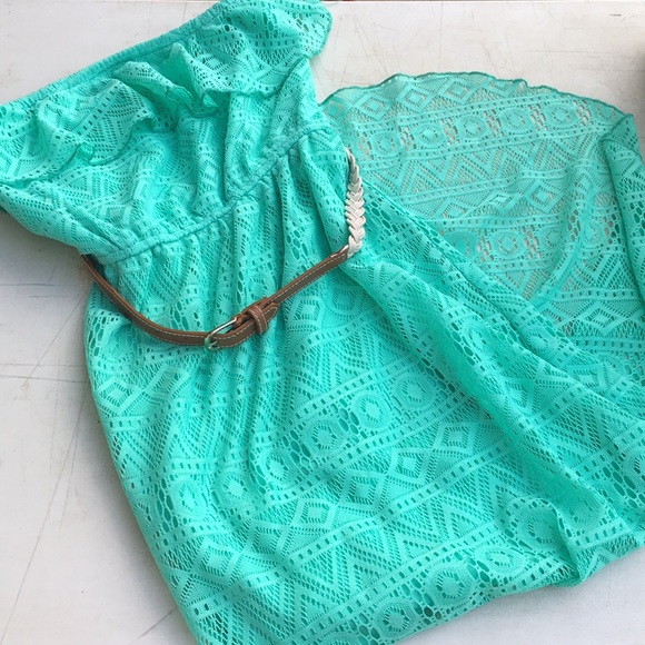 Maurices Dresses & Skirts - Teal high-low strapless dress